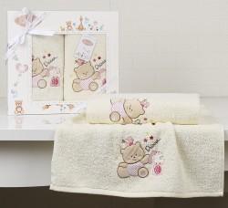 "Комплект полотенец ""KARNA"" детский BAMBINO-BEAR 50x70-70х120 см"
