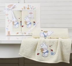 "Комплект полотенец ""KARNA"" детский BAMBINO-BUNNY 50x70-70х120 см"