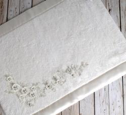 """Коврик махровое для ванной """"IRYA"""" кружевной BRIDE 60x90 см 1/1 Mолочный"""