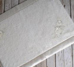 """Коврик махровое для ванной """"IRYA"""" кружевной ROSE 60x90 см 1/1 Mолочный"""
