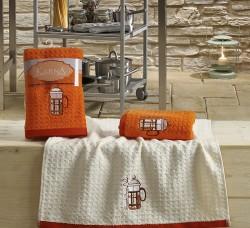 "Кухонные полотенца ""KARNA"" LEMON 45x65 1/2 Оранжевый"